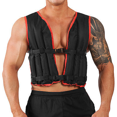 Weighted Vest 10kg Jacket Strength Training Running Weight Loss Gym Exercise Fit