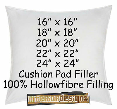 "CUSHION INNER PADS FILLERS INSERTS 100% Polyester Filling 16"" 18"" 20"" 22"" 24"""