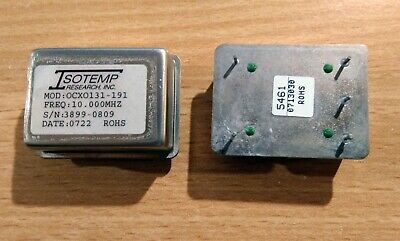 2 x ISOTEMP OCXO 131-191 10Mhz Oven Controlled Crystal Oscillators