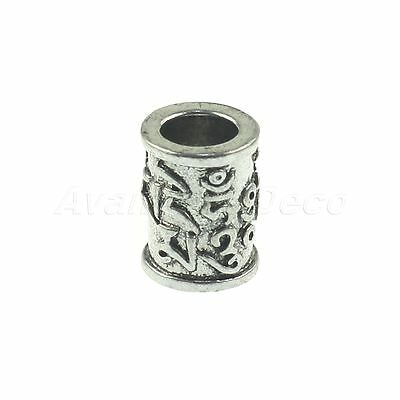Fashionable Carved Silver Column Pendant Metal Bead for Paracord Knife Lanyard