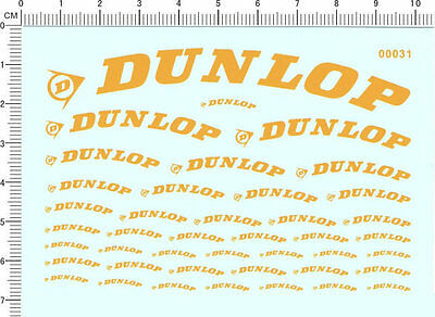 decals DUNLOP for different scales(yellow) 00031
