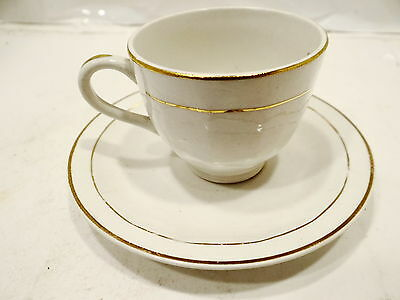 VINTGE VITREOUS EDWIN K.KNOWLES CHINA CO24-35 PAT.EBTED DEMI-TASSE CUP& SAUCER