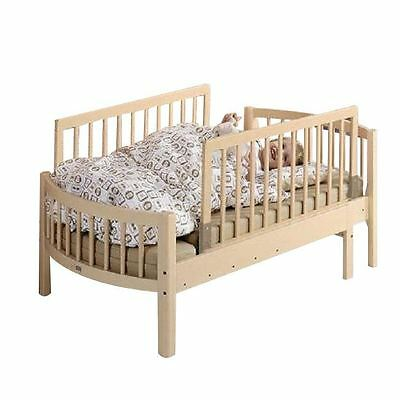 BabyDan Double Sided Wooden Bed Guard - Two BabyDan Bed Rails - Natural