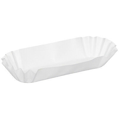 """100 Dixie® Hot Dog / Corn Dog Trays 8"""" Consession Party Medium Fluted Paper USA"""