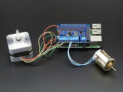 Adafruit DC & Stepper Motor HAT for Raspberry Pi 2-B B+/A+ Robot Shield PWM