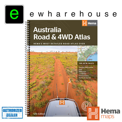 Hema Maps Australia Road & 4Wd Atlas With Touring Info On Caravan Parks And More