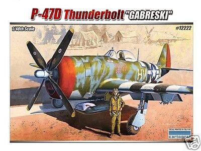 12222 Academy 1/48 Scale Model Kit P-47D Thunderbolt Gabreski Plastic Airfix New