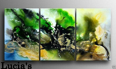 3 Pc Large Modern Abstract Oil Painting On Canvas Handmade (No frame)