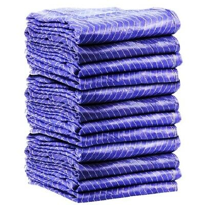 "12PK HEAVY DUTY Moving Blanket PRO Quilted Pads 72"" x 80"" Furniture 69lbs/DZ!!!"