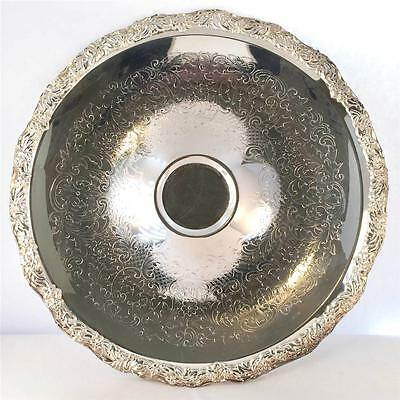 Towle EP Vintage Circular Silver Plated Serving Dish w/Raised Center Circle
