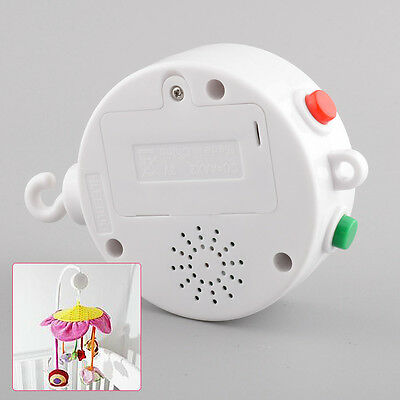 White 12 Melodies Baby Kids Mobile Crib Bell Autorotation Music Box Cots