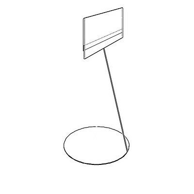 """Set Of 20 Stand Alone Chromed Wire Price Info Holder Label Insert A7 4.2""""x2.7"""""""