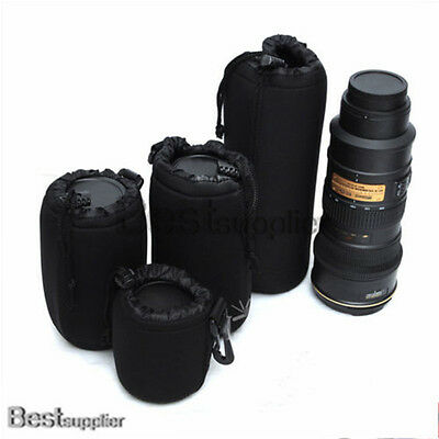 XL L M S Size Neoprene Soft Waterproof Camera Lens Pouch Bag Case Protector 2015
