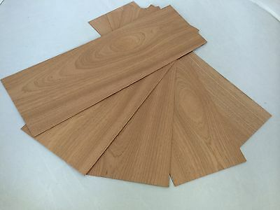 5 x Solid Mahogany Panels 150mm x 450mm Assorted Thickness Pack Free Postage