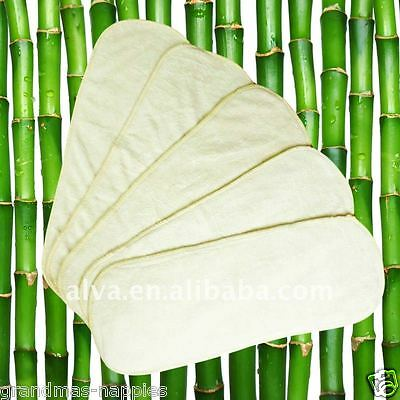 4 Layer Bamboo Modern Cloth Reusable Nappy/Diaper Inserts - Boosters 100% Bamboo