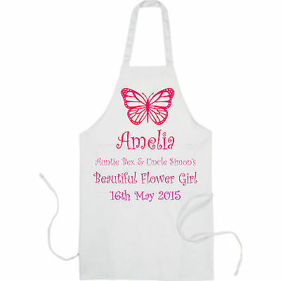 Personalised Wedding Breakfast Apron Ideal for Bridesmaid Flower Girl Page Boy