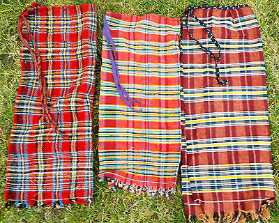 Details about  Antique Hand Embroidered Woven Woolen Folk costume Apron 3 parts
