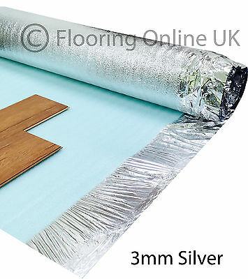 15m2 - 3mm Comfort Silver - Acoustic Underlay For Wood & Laminate Flooring