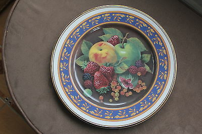 FENTON CHINA  - Large PLATE  -  Delicatessen Collection  -  STRAWBERRIES