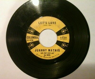 Johnny Mathis - Let's Love / You Are Beautiful (Columbia, 1959, VG)