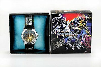 Transformers Black Kids Childs Wrist Watch Boxed Boys Uk Seller New