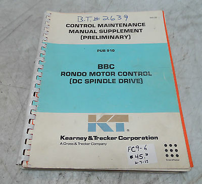 Manuals books material handling business industrial page 16 kearney trecker control maintenance manual supplement preliminary pub 910 asfbconference2016 Gallery