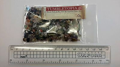 50g BAG Mixed Semi Precious Gemstone Pieces Chips TUMBLETOPIA TUMBLESTONES 1sm