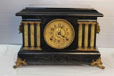 Antique Seth Thomas Adamantine Mantle Clock ~ Running ~ Circa Early 1900's