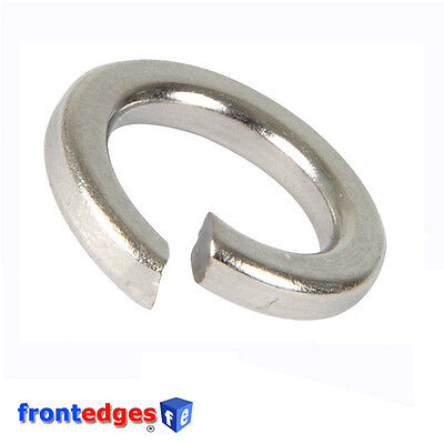 A2 Stainless Steel Square Section Spring Lock Washers M5 M6 M8 M10 M12
