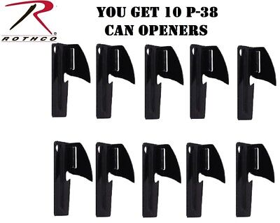 Black P-38 Can Openers Military Survival John Wyane P38 (10 PACK) Rothco 99370