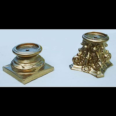 Metal mantle clock parts. Set of 2. Column base and capital.
