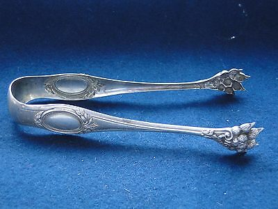 Sugar & Ice Tongs, Sterling Silver Chased And Engraved Antique French 1880