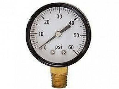 "New 60PSI Dry Gauge 2 1/2"" X 1/4"" MPT"