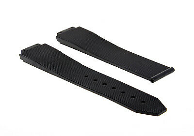 25Mm Rubber Watch Strap Band Deployment Clasp For Hublot H Big Bang Black #8H
