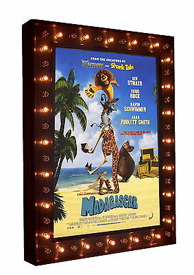 Home Theatre Movie Poster LED Lightbox Marquee Poster Case with Chase Lights