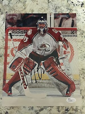 SIGNED OFFICIAL COLORADO AVALANCHE PATRICK ROY CANADIENS 8x10 PHOTO JSA 4 Cups