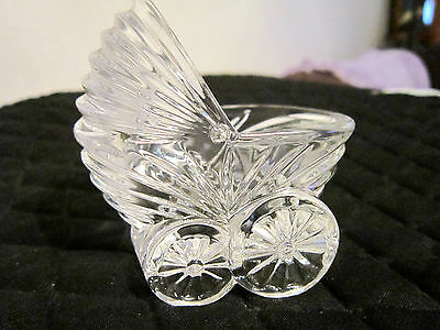AVON 24% LEAD CRYSTAL BABY CARRIAGE - 1993 -  MADE IN FRANCE