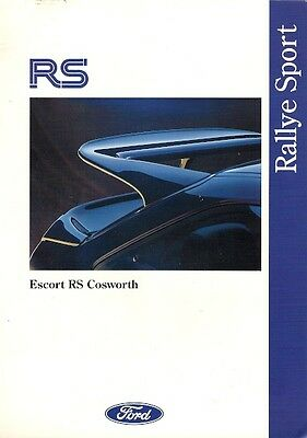 Ford Escort RS Cosworth 1992-93 UK Market Launch Foldout Sales Brochure