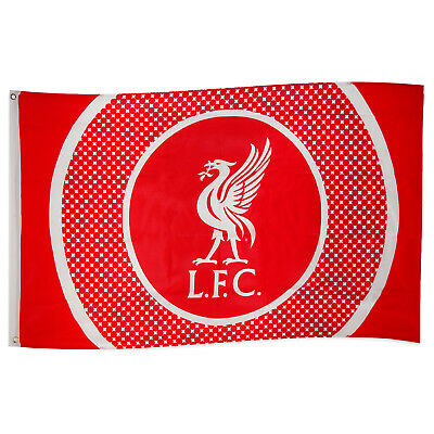 Liverpool FC Official Football Gift 5x3ft Body Flag Red White