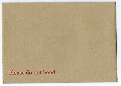 125 C6 A6 Hard Board Backed Peel/Seal Envelope Manilla Do Not Bend 114mm x 162mm