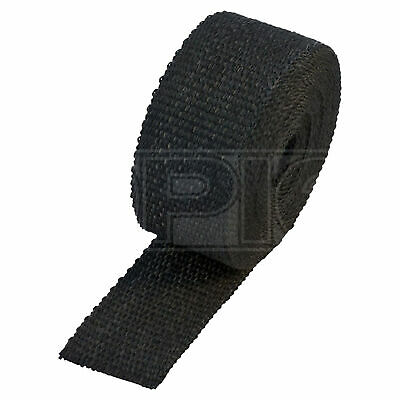 "HeatShield Black Exhaust Wrap - 2"" x 50ft Thermal Insulation Roll - Single"