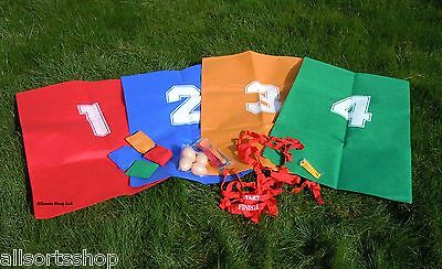 Garden Games Sports Day Set. Party Games, Sack Race, egg & spoons, 3 legged race