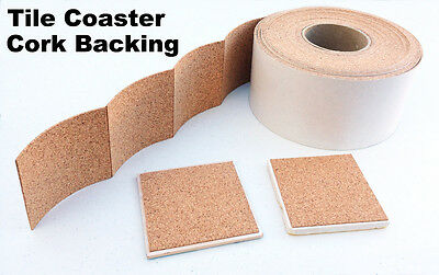"Cork Backing 4"" x 4"" With Adhesive For Tile Coasters - 25 pieces"