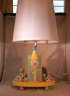 Artisan Painted Wooden Baby's Lamp