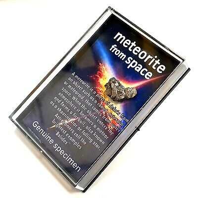 Meteorite Story in a Box - Genuine Sikhote Alin Meteoroite from Space - RS6003
