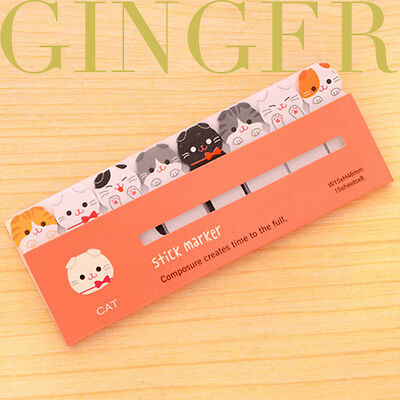 120 Pages Funny Cat Sticker Post It Bookmark Point Plan Marker Flag Sticky Notes