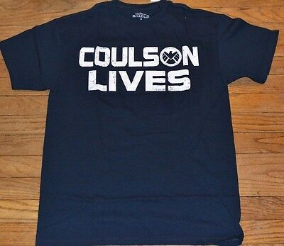 Marvel Agents of SHIELD S.H.I.E.L.D Coulson Lives Adult T-Shirt Tee