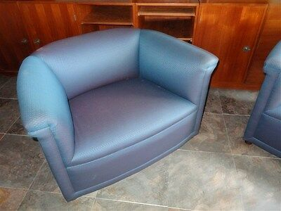 Ward Bennett for Brickel Associates Deco Style Turquoise Club Chair