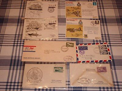 Boats and Planes Envelopes.  Qantas 1958 and TAA 1964 Cutty Sark 1969 Stamps