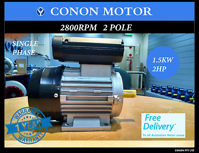 1.5kw/2HP 2800pm  19mm REVERSIBLE CSCR Air Compressor motor single-phase 240v